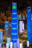 3D model of the city of Shanghai Stock Image