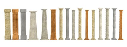 3d model of columns Royalty Free Stock Images