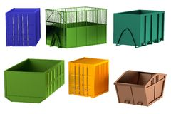 3d model of containers Royalty Free Stock Photo