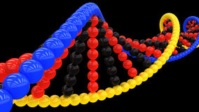 3d model of DNA #4 Stock Images