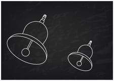 3d model dzwon na czerni royalty ilustracja