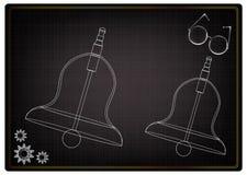 3d model dzwon na czerni ilustracji