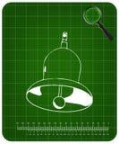 3d model dzwon na zieleni royalty ilustracja