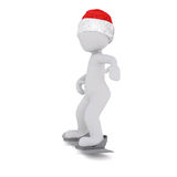 3d model hold a little snowman in front Stock Images
