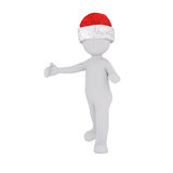 3d model hold a little snowman in front Royalty Free Stock Image