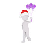 3d model hold purple balloons Stock Images