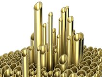 3d model illustration pipe Royalty Free Stock Images