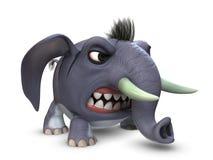 3D model kreskówka śmieszny mały słoń Zdjęcia Stock
