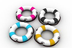 3d model of   lifebuoy Royalty Free Stock Image
