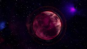 3D model of a planet in space