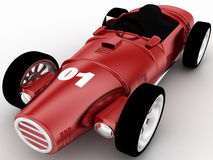 3d model of racing old car concept Royalty Free Stock Photo