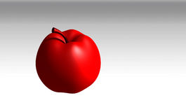 3d apple. 3d model of a red apple left Stock Photography