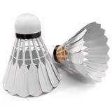 3d model of Shuttlecock  on White 3D Illustration Stock Photos