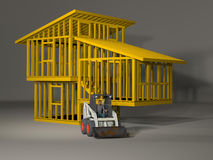 3d model of a split level house frame Royalty Free Stock Photo