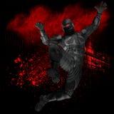 3D model of superhero Royalty Free Stock Image