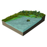 3d model terrain swamp Stock Images