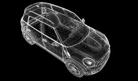 3D model van de auto Royalty-vrije Stock Foto