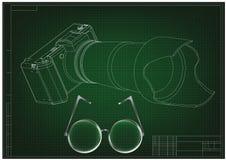 3d model van de camera op green Royalty-vrije Stock Foto