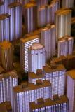 3D model van de verlichte stad van Shanghai Royalty-vrije Stock Foto's