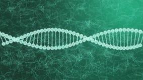 3d model van DNA-molecules structureert geometrisch model van lichtgevend lijnenblauw stock footage