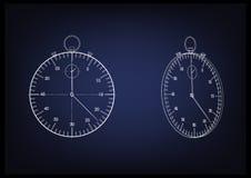 3d model van een chronometer Stock Afbeelding
