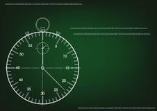 3d model van een chronometer en een zandloper Stock Foto
