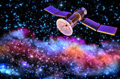 3D model van een kunstmatige satelliet van de Aarde Stock Afbeeldingen