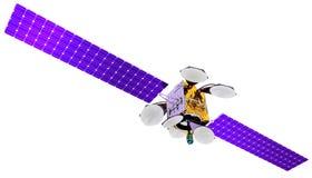 3D model van een kunstmatige satelliet van de Aarde Stock Afbeelding