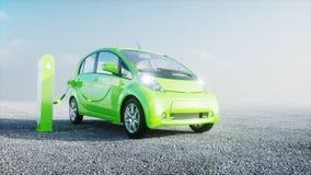 3d model van elektrische nieuwe auto's in voorraad De Auto's van het autohandel drijven voor Verkoop Het concept van de ecologie  Royalty-vrije Stock Foto