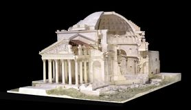 3d model van het Pantheon in Rome Royalty-vrije Stock Fotografie
