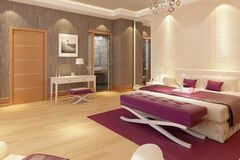 3D model villa project indoor stock photo