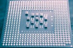 3d modela komputeru procesoru biel Obrazy Stock