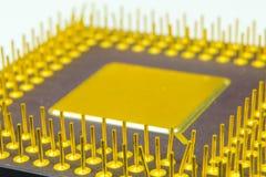 3d modela komputeru procesoru biel Fotografia Stock