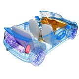 3d modelauto's Royalty-vrije Stock Foto's