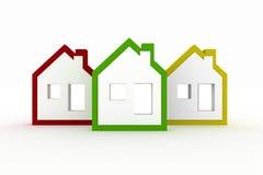 3d modella il simbolo delle case illustrazione vettoriale