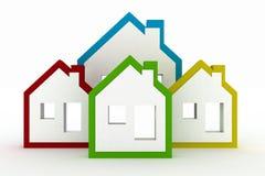 3d modella il simbolo delle case Immagine Stock Libera da Diritti