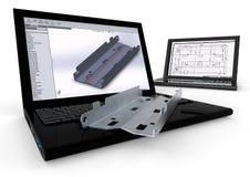 3D modellering Stock Afbeeldingen