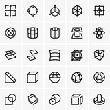 3d modelling icons Stock Photos