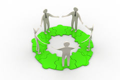 3d modelling people connected. In white background Stock Images