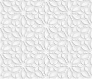 3D modello bianco senza cuciture, modello floreale, ornamento indiano, motivo persiano, vettore La struttura senza fine può esser Immagini Stock Libere da Diritti