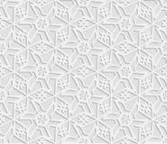3D modello bianco senza cuciture, ornamento indiano, motivo persiano, vettore La struttura senza fine può essere usata per la car Royalty Illustrazione gratis