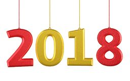 3d modello New Year 2018 Fotografia Stock Libera da Diritti
