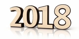 3d modelnew year 2018 Vector Illustratie