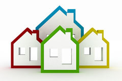 3d models houses symbol Royalty Free Stock Image