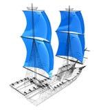 3d modelschip Royalty-vrije Stock Afbeelding