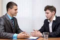 3 d modelu biznesowego abstrakcyjnych negocjacji Obraz Stock