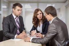 3 d modelu biznesowego abstrakcyjnych negocjacji Fotografia Royalty Free