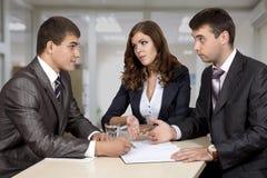 3 d modelu biznesowego abstrakcyjnych negocjacji Zdjęcie Royalty Free