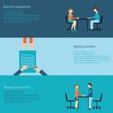 3 d modelu biznesowego abstrakcyjnych negocjacji Zdjęcia Stock