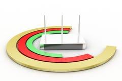 3d modem router illustration Stock Photo